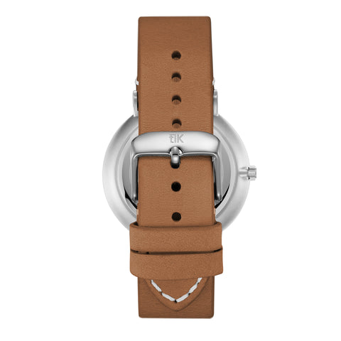 Light Brown Leather - Silver Buckle