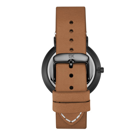 Light Brown Leather Strap - Black Buckle