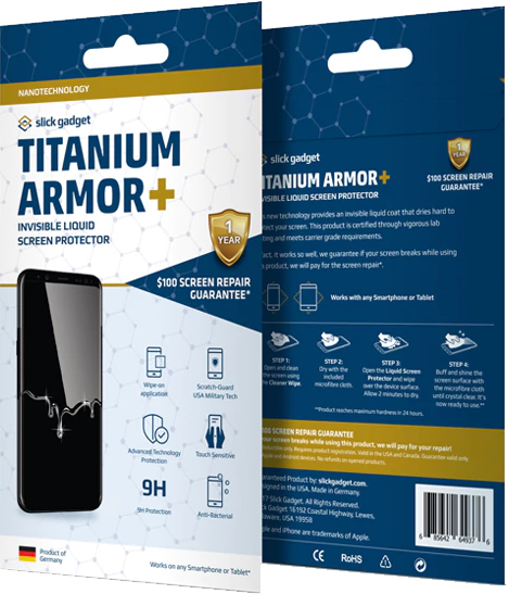 Titanium Armor Plus Liquid Glass Screen Protection (Full Screen Guarantee)