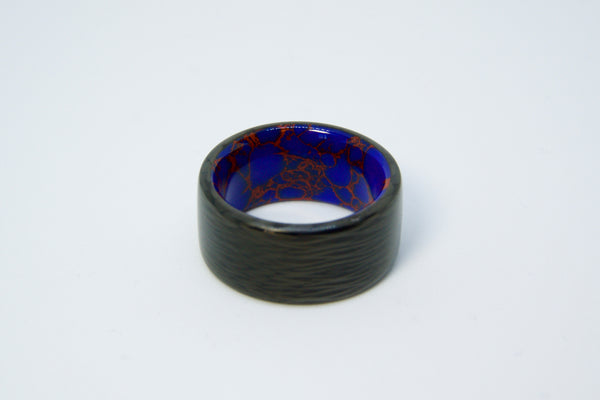 Carbon Fiber with Azurite Inner Liner Ring