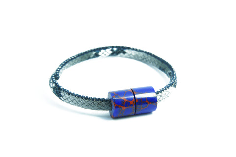 Leather Azurite Bracelet