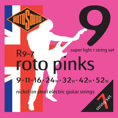 RotoSound R9/7 7-Str Ele Str 9-52 Strings
