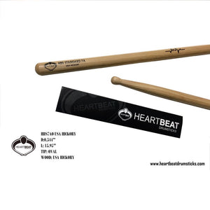 Heartbeat HBS 7A RED HICKORY OVAL Drumsticks