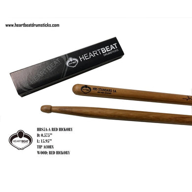 Heartbeat HBS 5A RED HICKORY ACORN Drumsticks