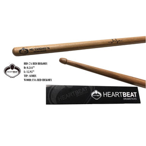 Heartbeat HBS 7A RED HICKORY ACORN Drumsticks