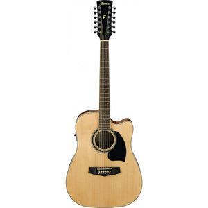 Ibanez PF1512ECE NT 12 String Acoustic Guitar - Natural High Gloss