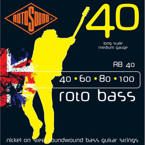 RotoSound RB40 4-Str Bass 40-100 Strings