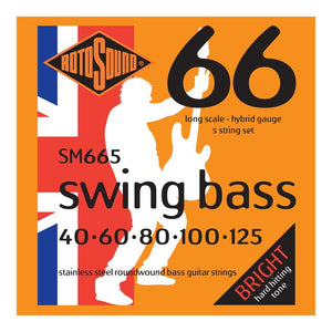 RotoSound SM665 5-Str Bass 40-125 Strings