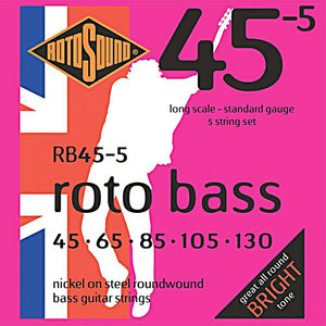 RotoSound RB455 5-Str Bass 45-130 Strings