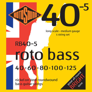 RotoSound RB405 5-Str Bass 40-125 Strings