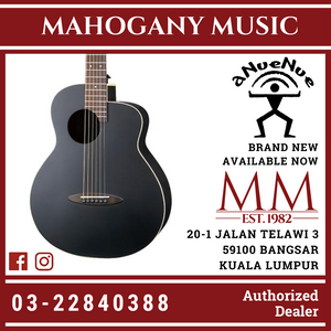 Anuenue ML16E Lumiblack Bird 36Inch Acoustic Guitar
