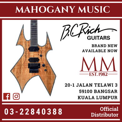 B.C Rich Warbeast Extreme Exotic Spalted Maple With Floyd Rose