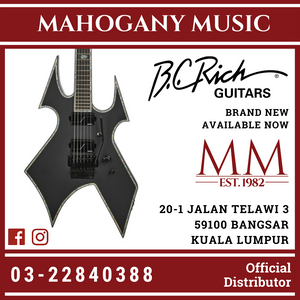 B.C Rich Warbeast Extreme Matte Black With Floyd Rose