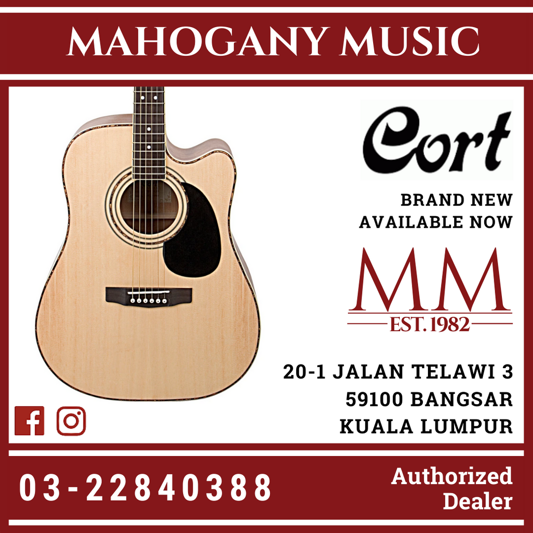 Cort AD880CE Natural Satin Acoustic Guitar