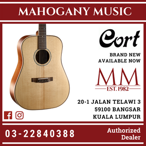 Cort AS-E4 Natural Acoustic Guitar