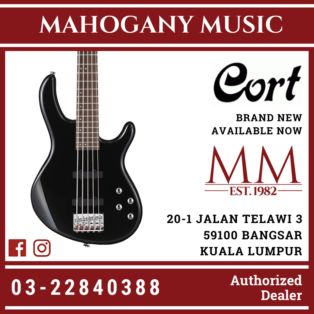 Cort Action-V Black Plus Electric Bass