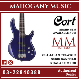 Cort Action-V Blue Metallic Plus Bass