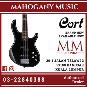 Cort Action Black 4 String Bass