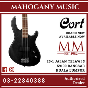 Cort Action Black Junior Bass Guitar
