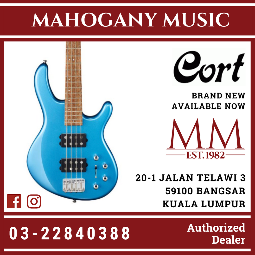 Cort Action HH4 Tasman Light Blue 4 String Electric Bass