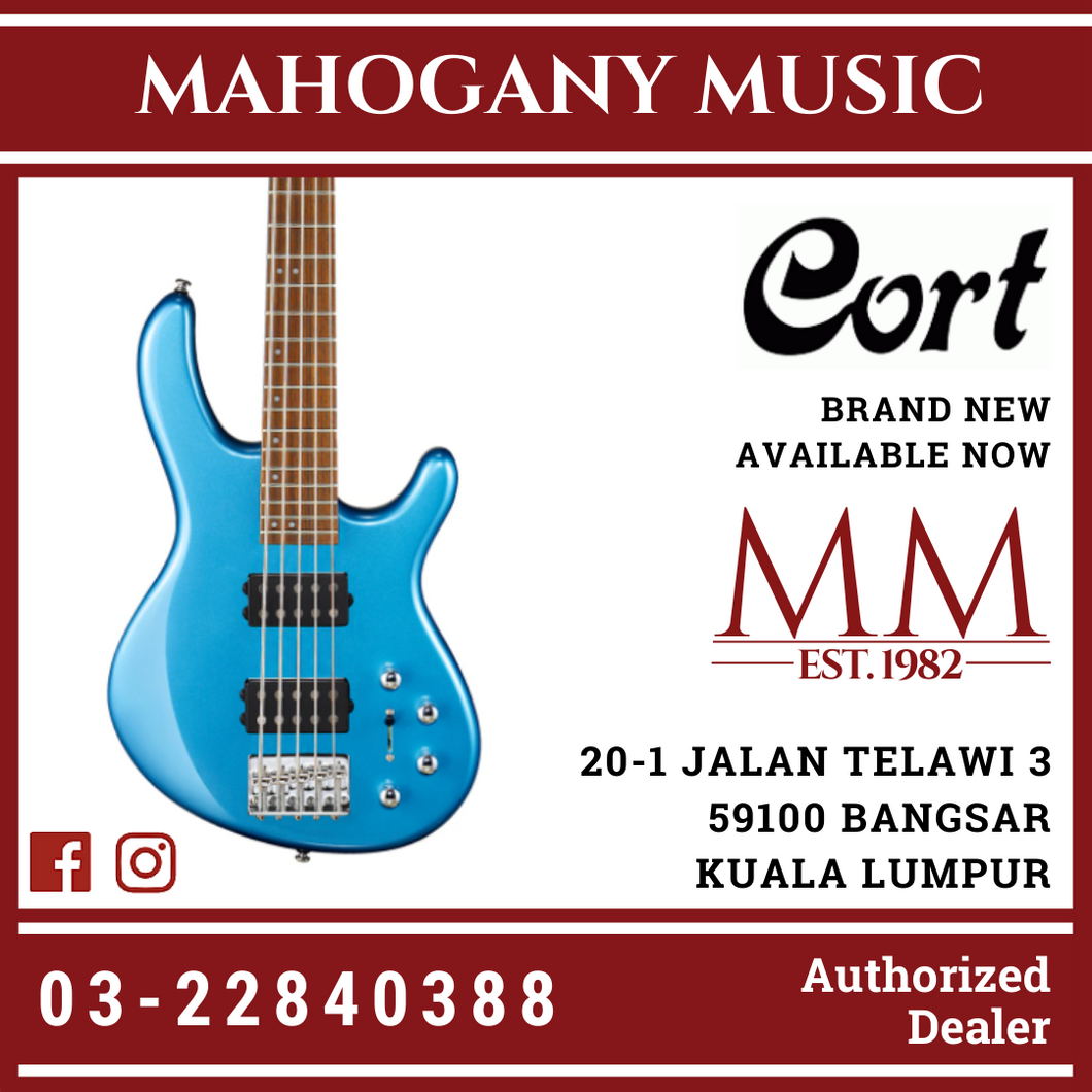 Cort Action HH5 Tasman Light Blue 5 String Electric Bass