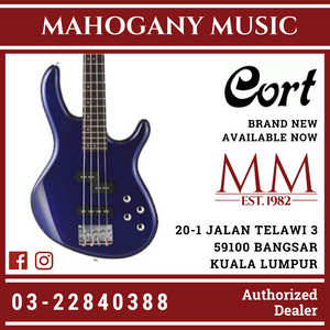 Cort Action Plus Blue Metallic Electric Bass
