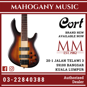 Cort C5 PLUS ZBMH Open Pore Tobacco Burst Electric Bass