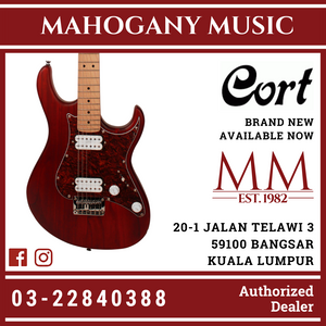 Cort G-100 H-H Open Pore Black Cherry Electric Guitar