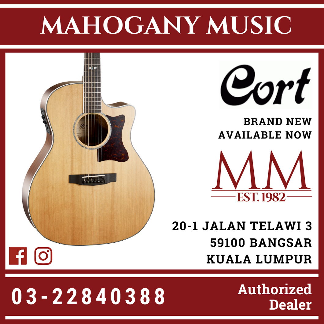 Cort GA5FMD Natural Grand Regal Acoustic Guitar