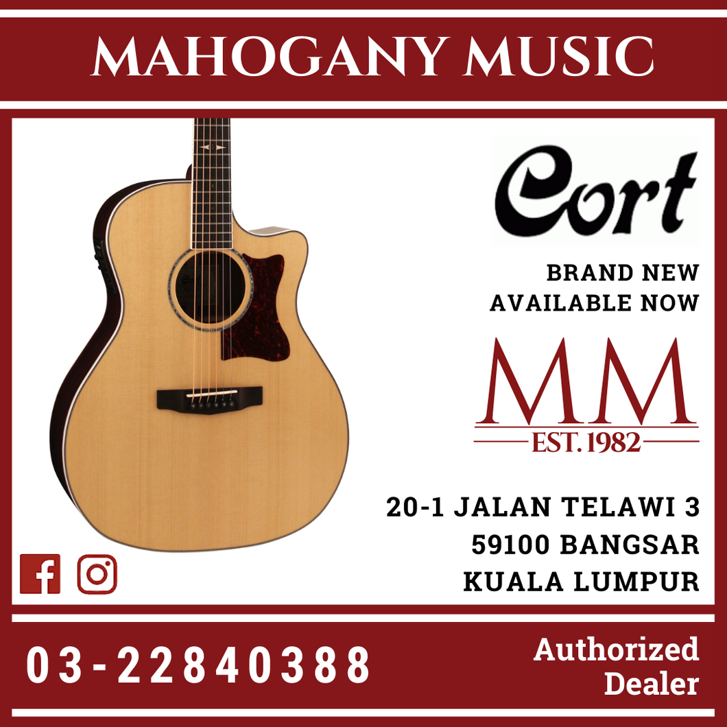 Cort GA5FPF Natural Grand Regal Acoustic Guitar