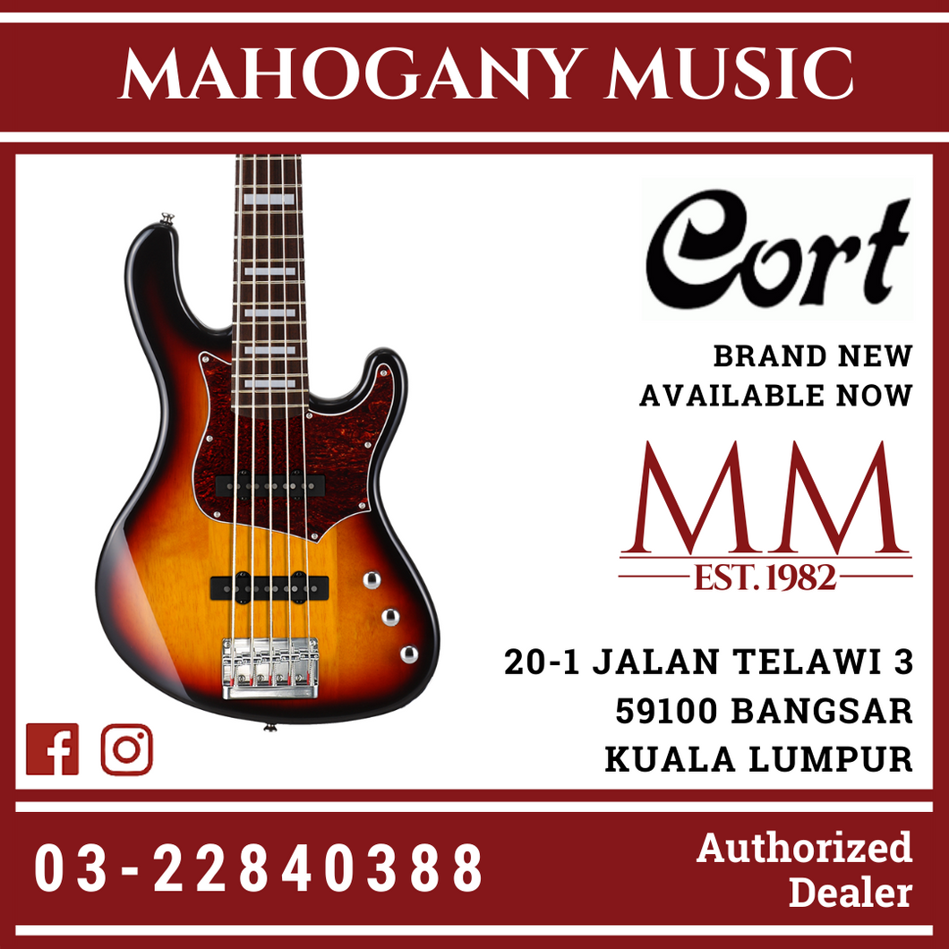 Cort GB-35J 3TS 5-String Bass