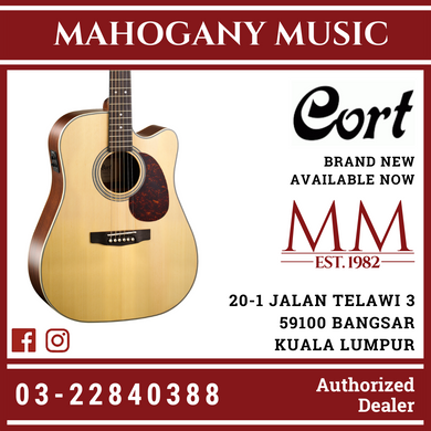 Cort MR-600FMH Natural Satin Solid Top Acoustic Guitar