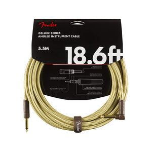 Fender Custom Shop Angled Instrument Cable 18.6ft, Tweed