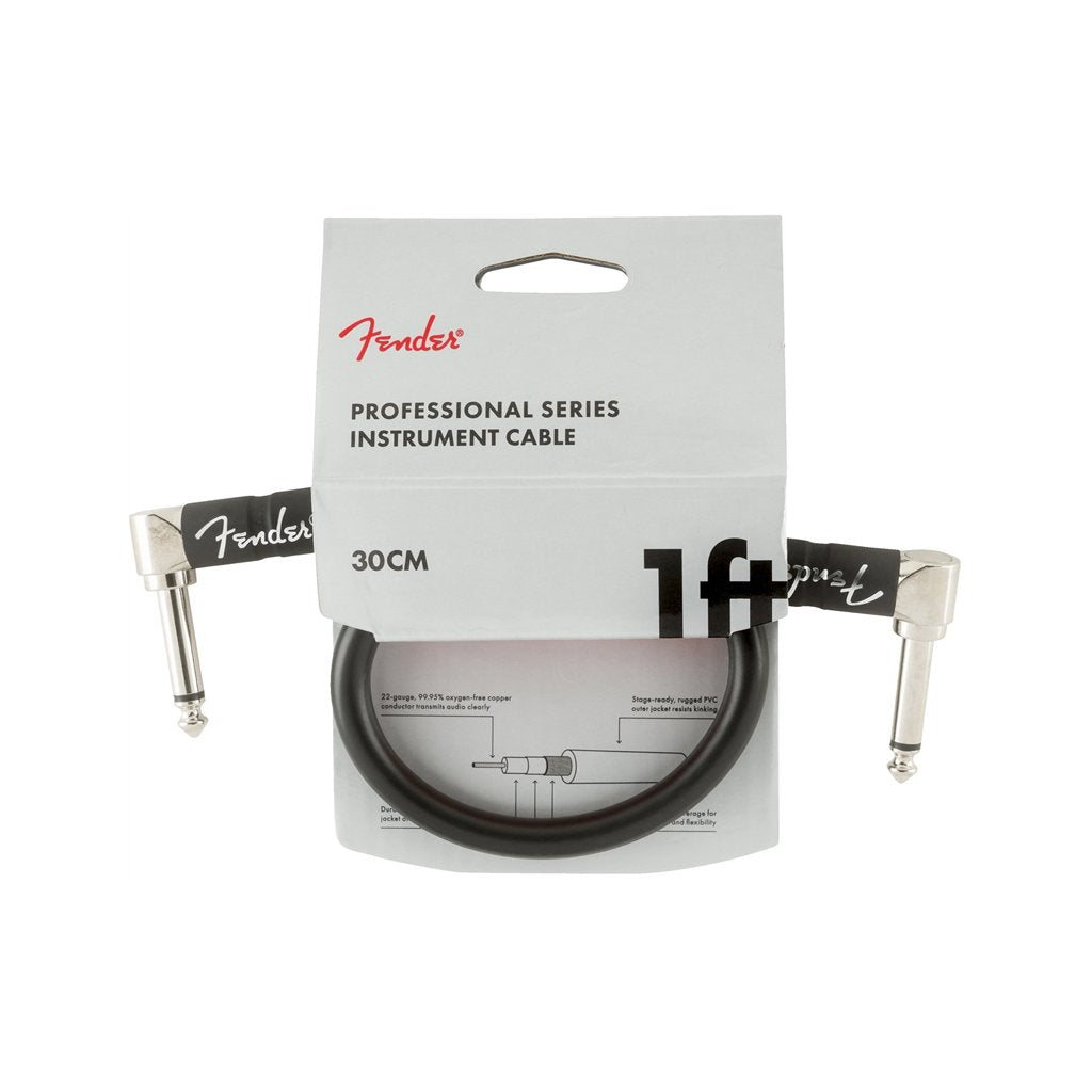 Fender Professional Series Instrument Cable, 1ft, Black