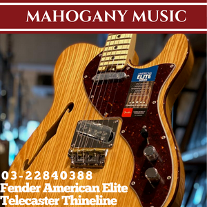 Fender American Elite Telecaster Thineline Electric Guitar, Maple FB, Natural