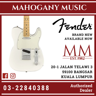 Fender Player Telecaster Electric Guitar, Pau Ferro FB, Polar White