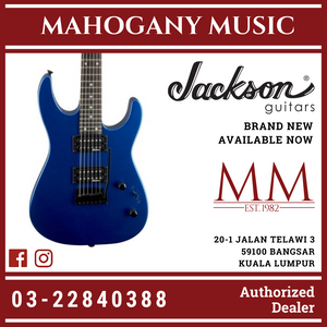Jackson JS Series Dinky JS12 Electric Guitar, Amaranth FB, Metallic Blue