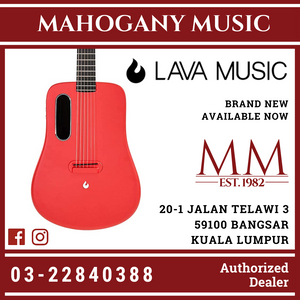 Lava Me 2 Free Boost Red Acoustic Guitar With Bag