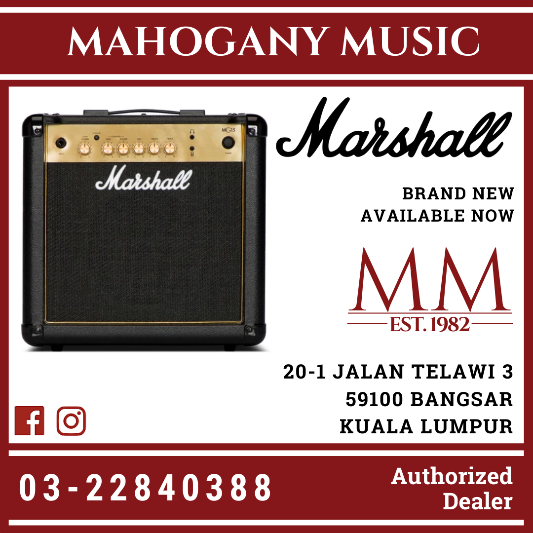Marshall MG15GR Gold Series 15W Guitar Combo Amplifier