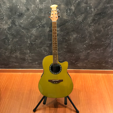 Ovation Applause AE028 Gold Metallic Finish Acoustic Guitar