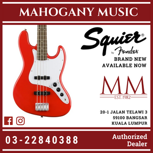Squier Affinity Jazz Bass Guitar, Laurel FB, Race Red