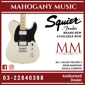 Squier Contemporary HH Telecaster Electric Guitar, Maple FB, Pearl White