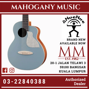 aNueNue Solid Top Bird MC10 BAE Blue Arona Acoustic Guitar Blue