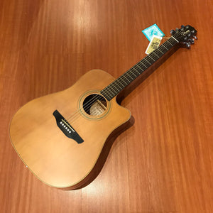 Takamine D-10n Natural Acoustic Guitar And Travel Softcase Guitars & Basses