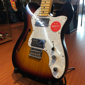 Fender Squier Vintage Modified 72 Telecaster Thinline Maple Neck 3 Tone Sunburst Electric Guitar