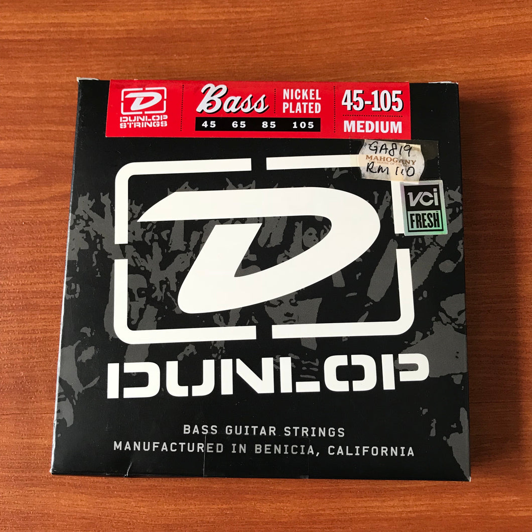 Dunlop Nickel Plated Steel Bass Strings - Medium