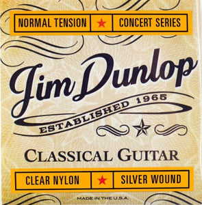 Jim Dunlop Clear Nylon Silver Wound Classical Guitar Strings