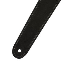 Fender 2inch Reversible Suede Guitar Strap, Black/Gray