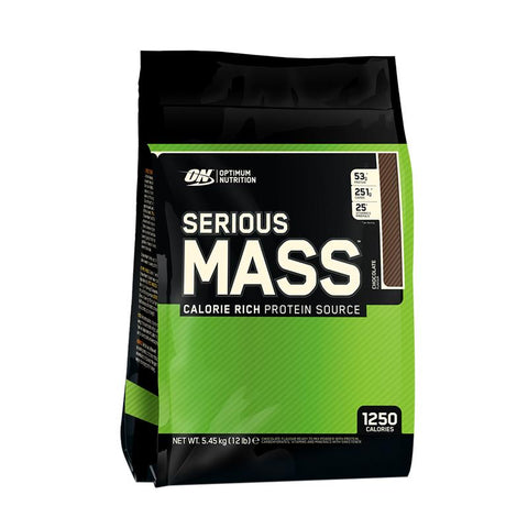 Optimum Nutrition Serious Mass, Chocolate, 12lbs