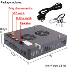 Viparspectra 600W LED Grow Light (V600)